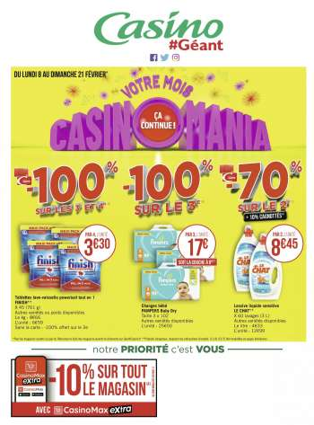 Catalogue Géant Casino - 08.02.2021 - 21.02.2021.