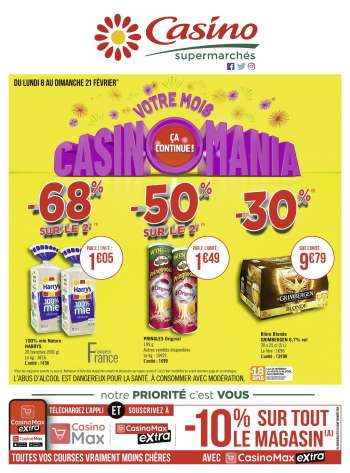 Catalogue Casino Supermarchés - 08.02.2021 - 21.02.2021.